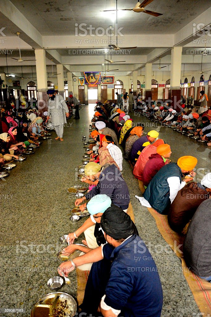 Free Food (langar),Golden temple stock photo