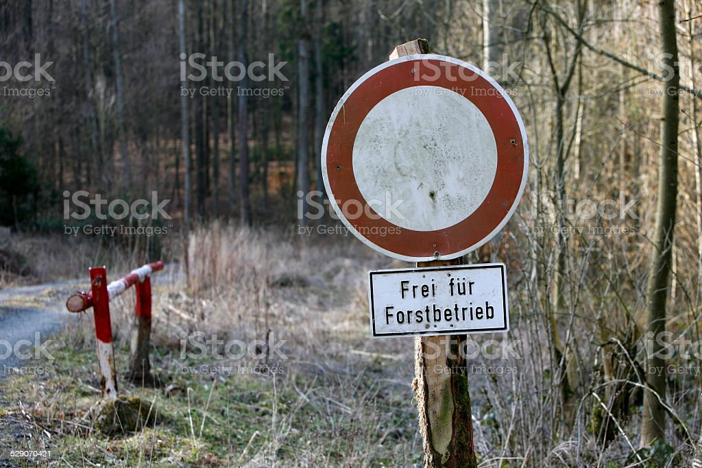 Free for forest management stock photo