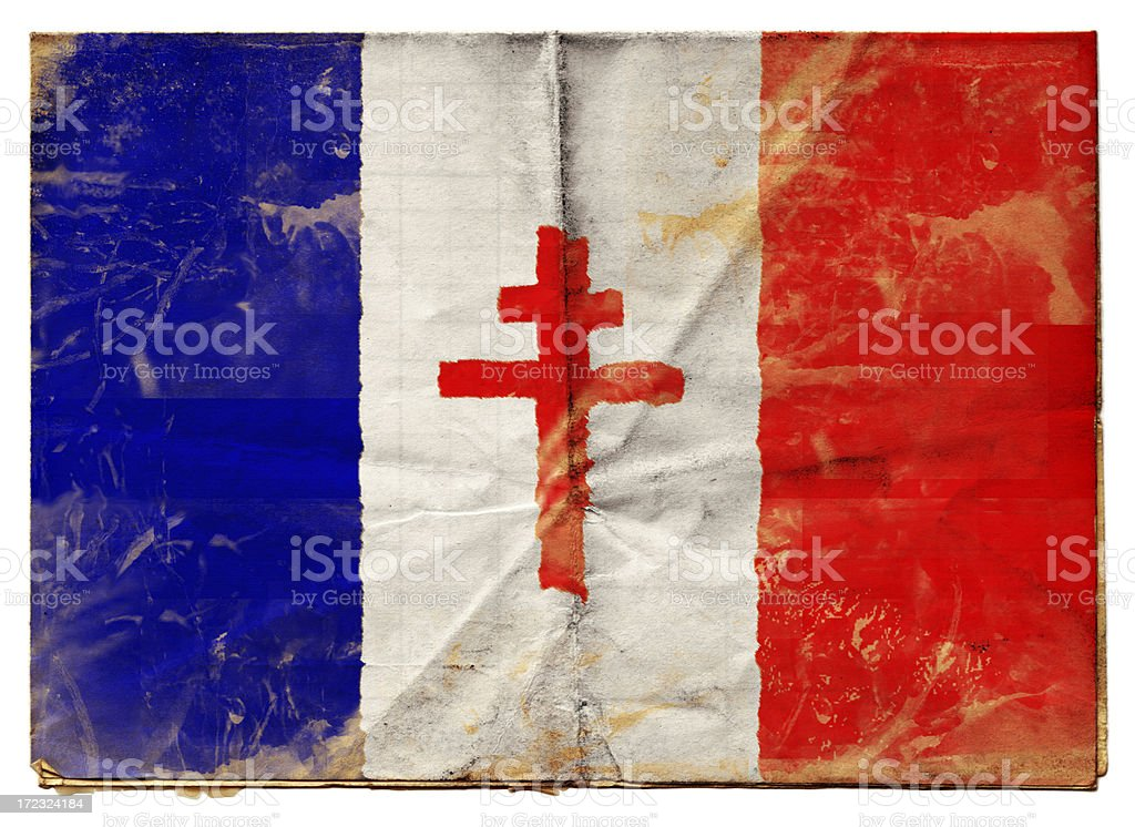 Free French Flag (XXL) royalty-free stock photo
