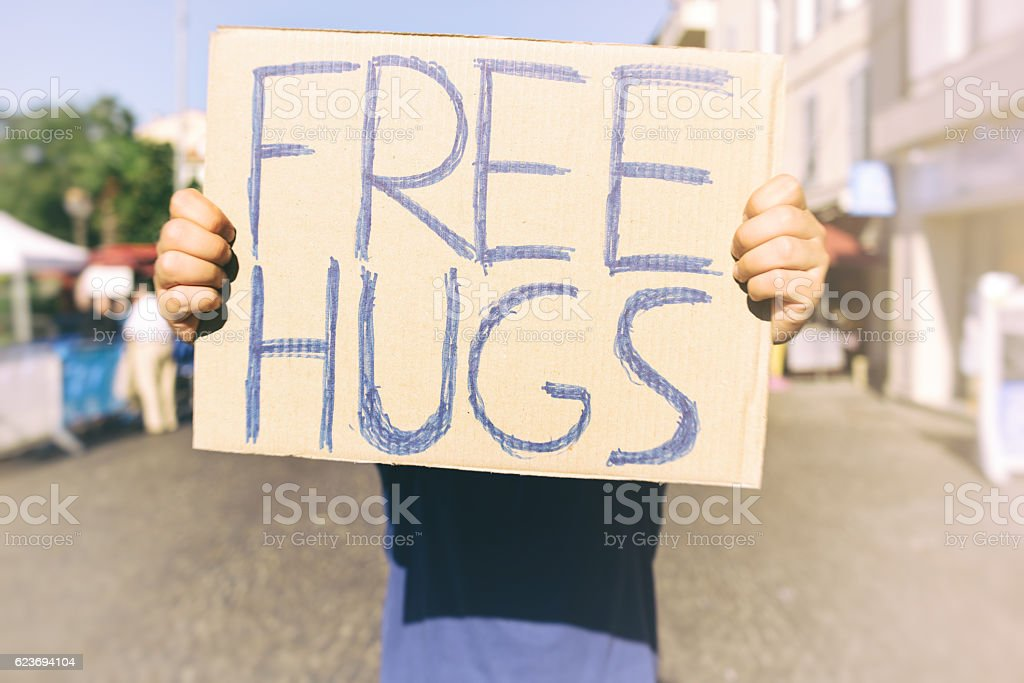 Free Hugs royalty-free stock photo