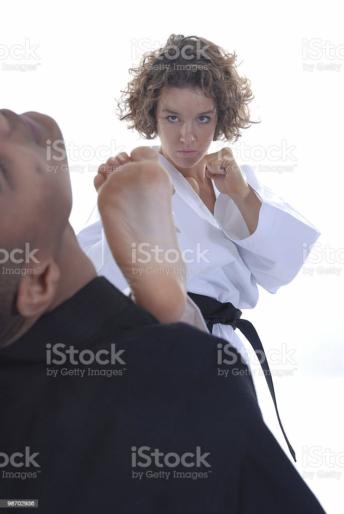 Free one step sparring royalty-free stock photo