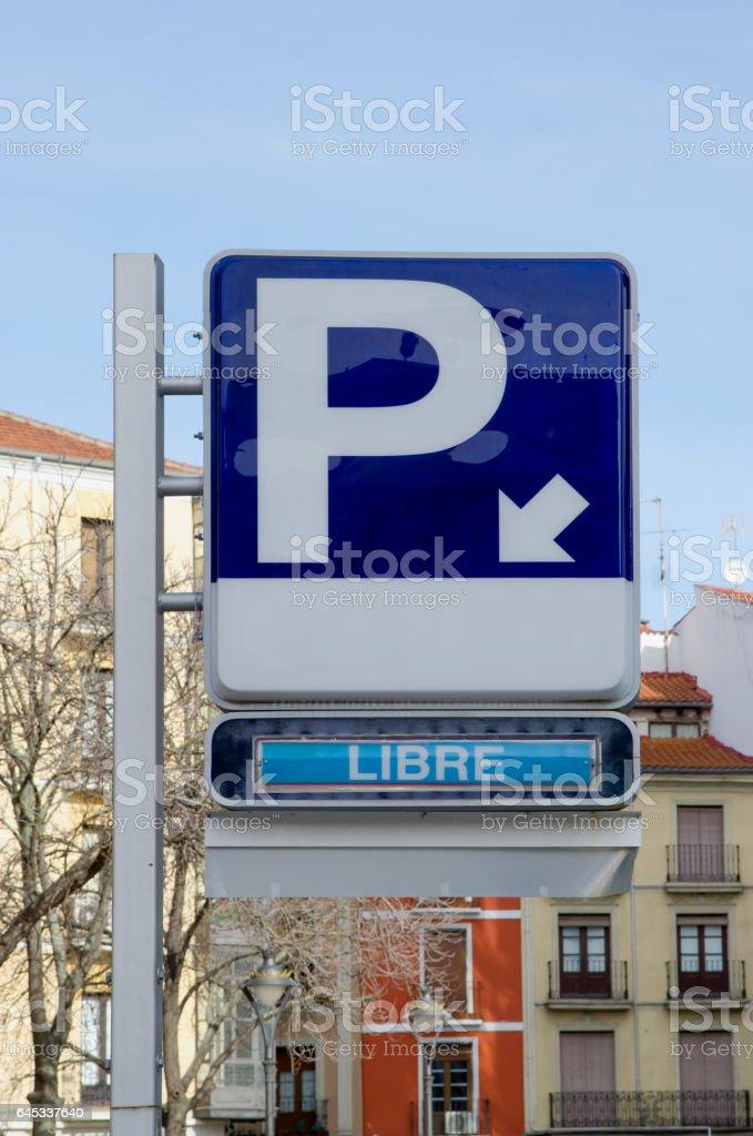 Estacionamento gratuito - foto de acervo