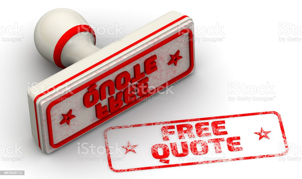 Free quote. Seal and imprint stock photo