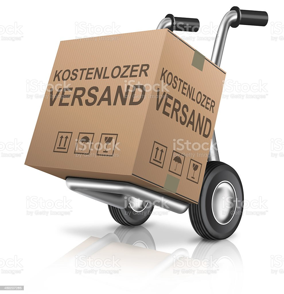 free shipping carboard box stock photo