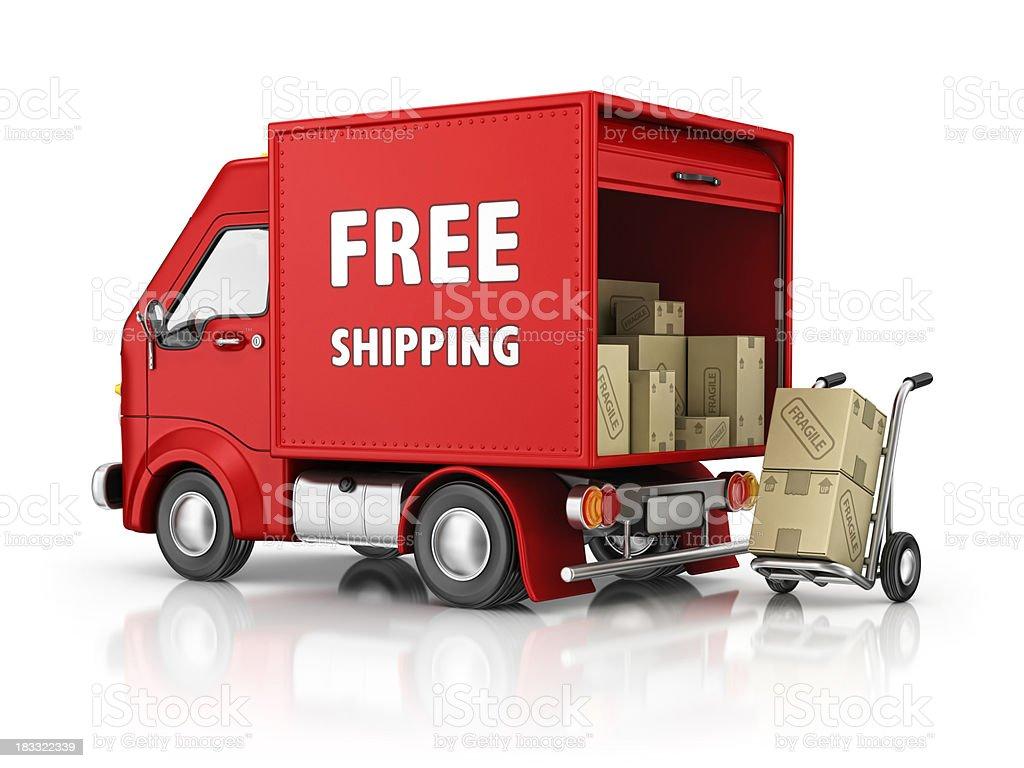 free shipping royalty-free stock photo