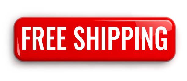 kostenloser versand roten knopf - kostenlose webseite stock-fotos und bilder