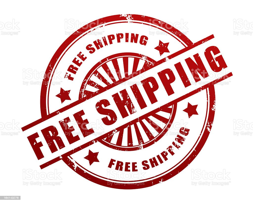 Free shipping stamp royalty-free stock photo