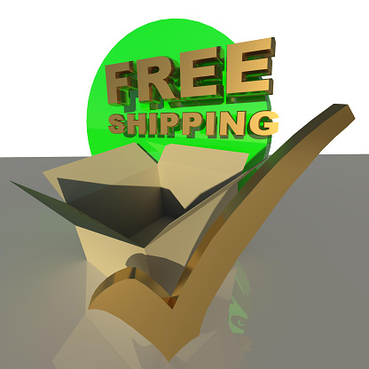istock free shipping tick parcel box background - 3d rendering 1254321064