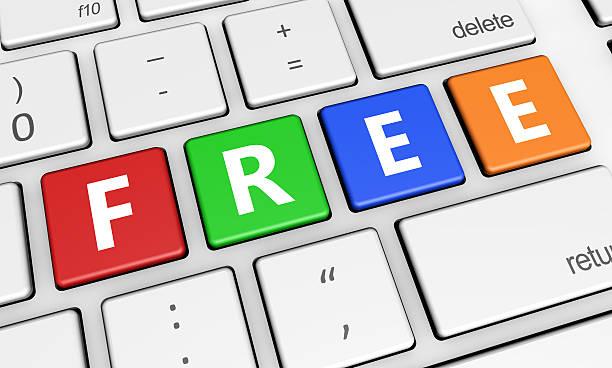kostenlose-zeichen auf der tastatur - kostenlose webseite stock-fotos und bilder