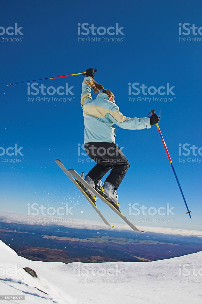 Free Skiing stock photo