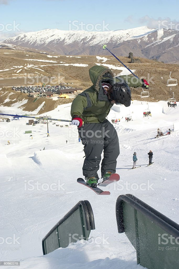 Free skiing stock photo