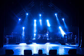 istock Free stage with lights 1222776839