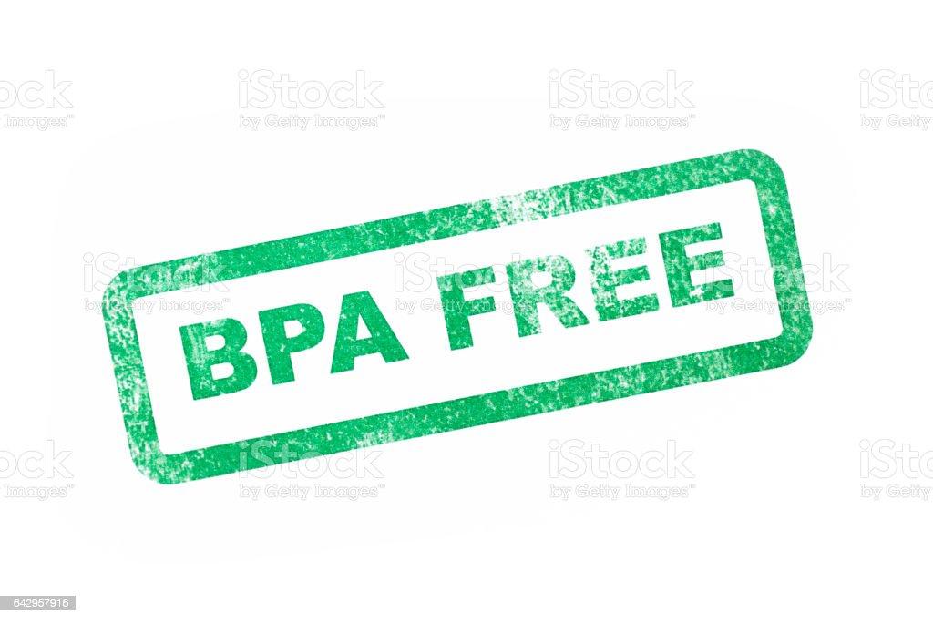 BPA Free Stamp stock photo