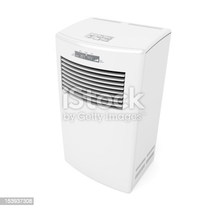 177118473 istock photo Free standing, white, mobile air conditioner 153937308