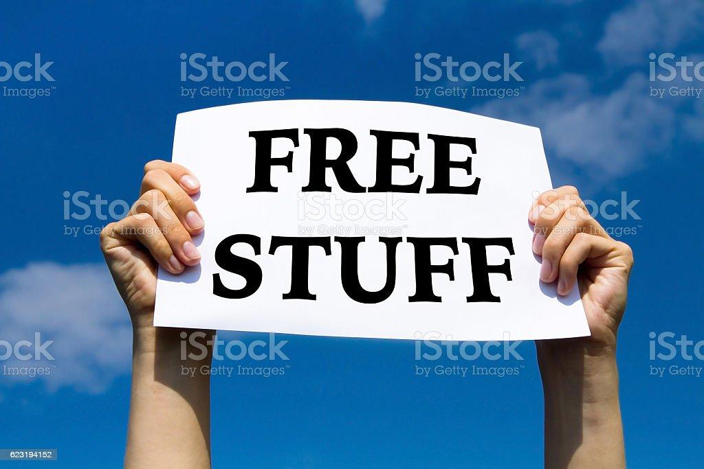 free stuff stock photo