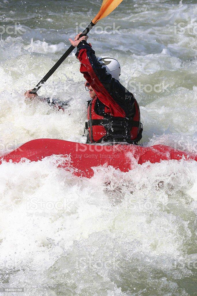 Free style kayaking royalty-free stock photo