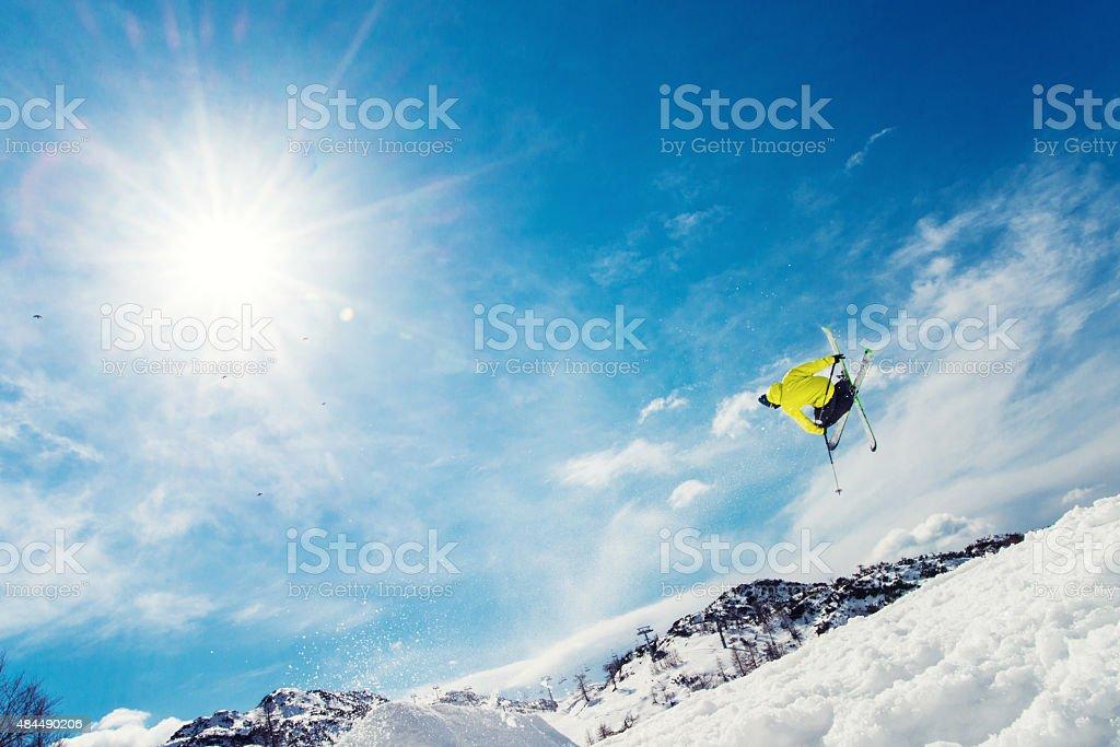 Free Style Skiing stock photo
