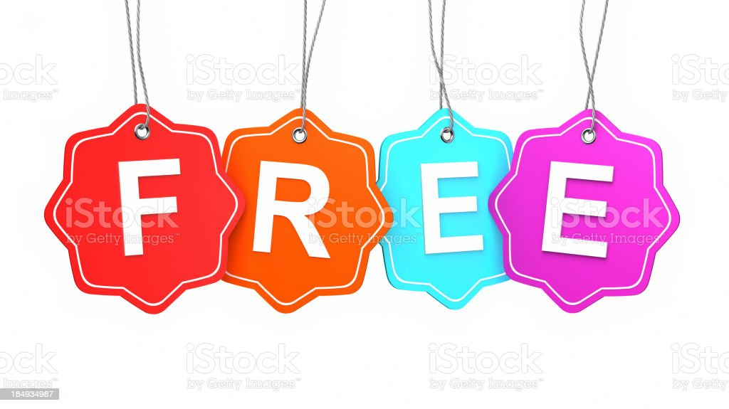 Free tags royalty-free stock photo