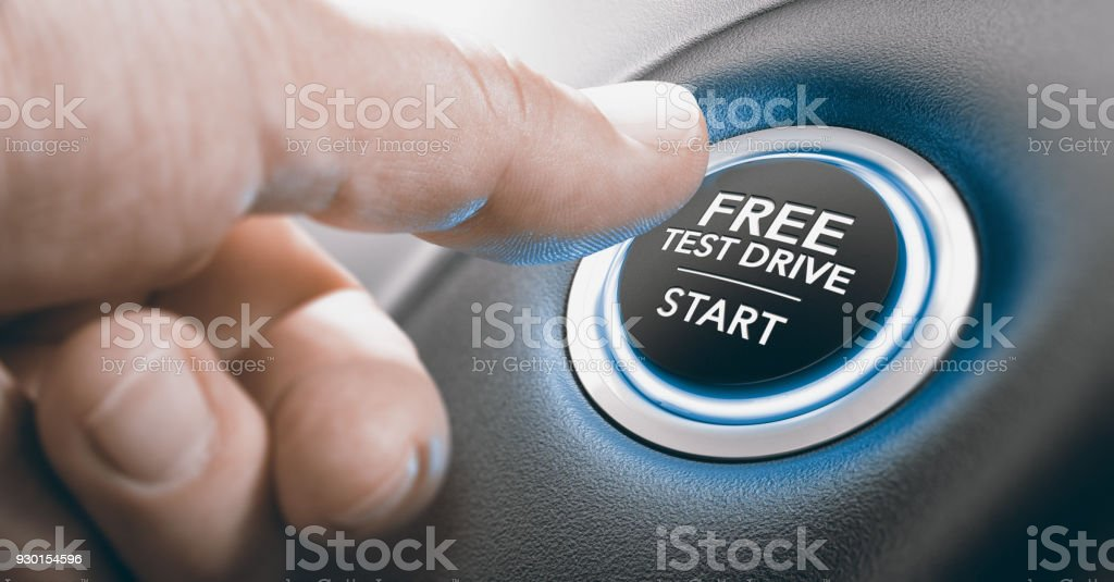 Free Test Drive Offer. stock photo