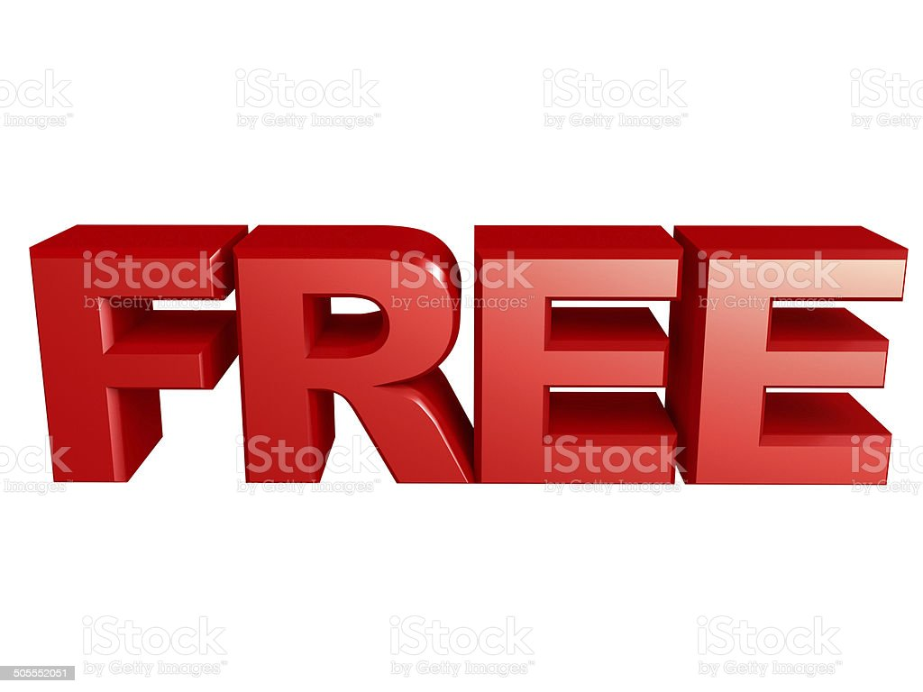 Free text Sign stock photo