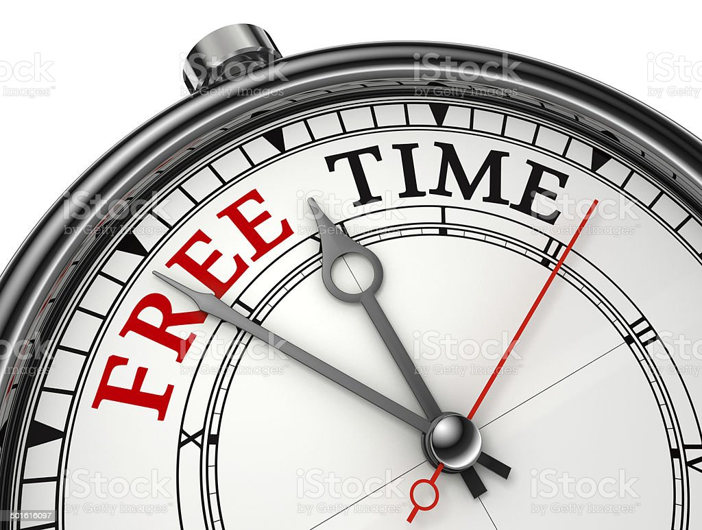 free time concept clock stock photo
