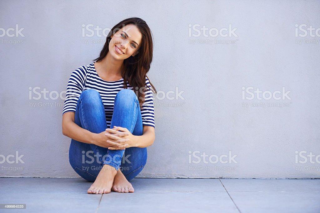 Free to be myself stock photo