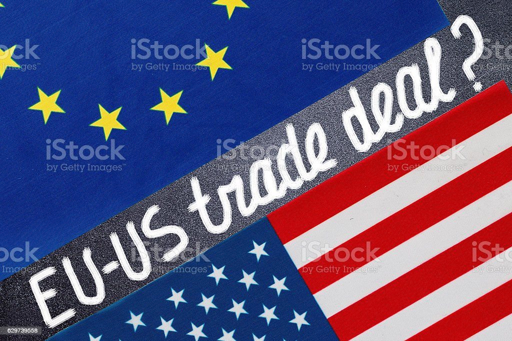Ttip Free Trade Agreement Between Usa And Europe Stock Photo More