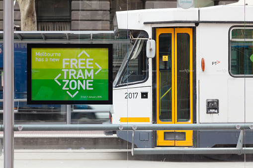 Free tram zone in Melbourne