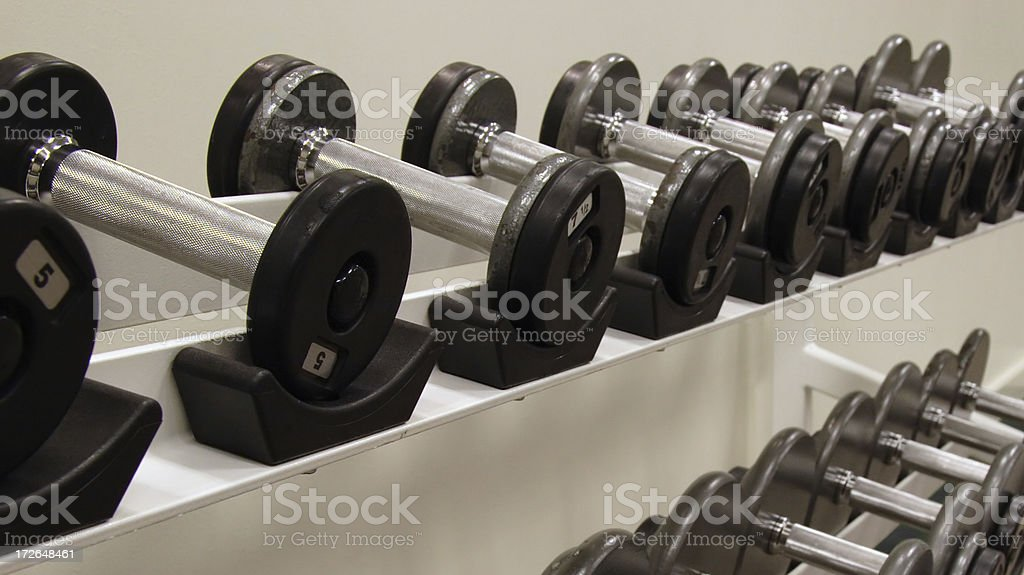 Free Weights / Dumbells royalty-free stock photo