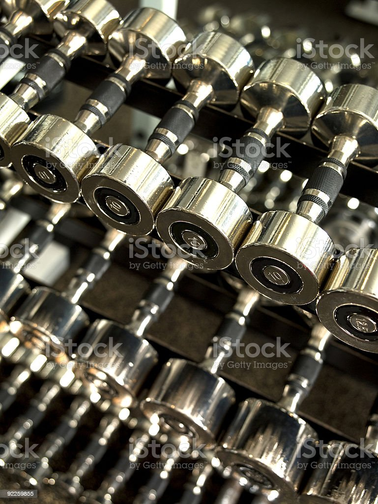 Free Weights royalty-free stock photo