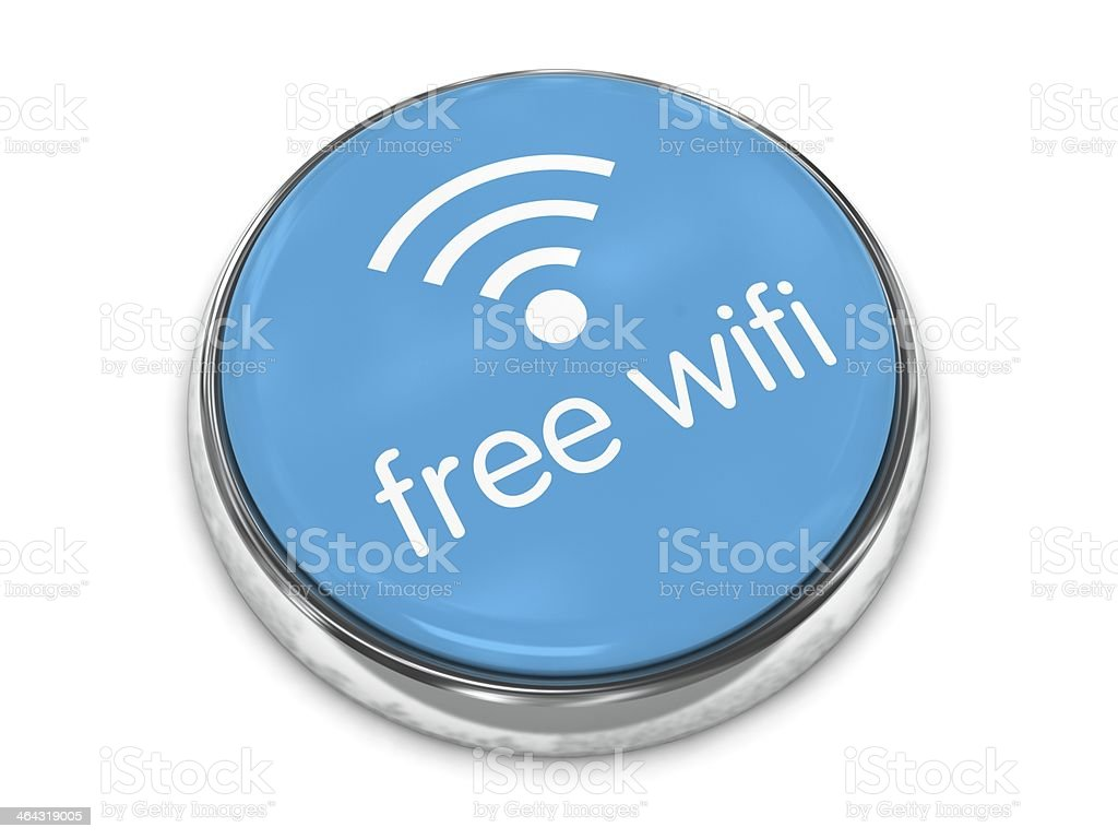Free wifi button royalty-free stock photo