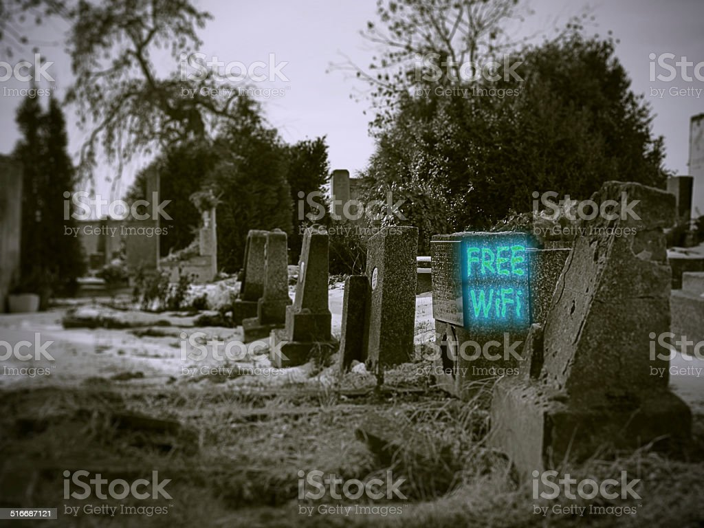 Free WiFi cemetery stock photo