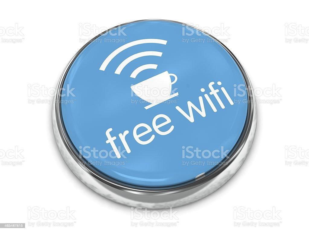 Free wifi internet cafe button royalty-free stock photo