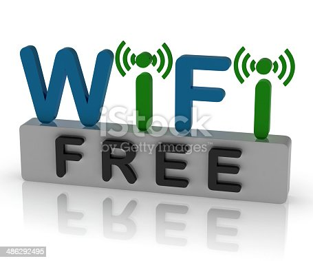 Free Wifi Showing Internet Connection And Mobile Hotspot