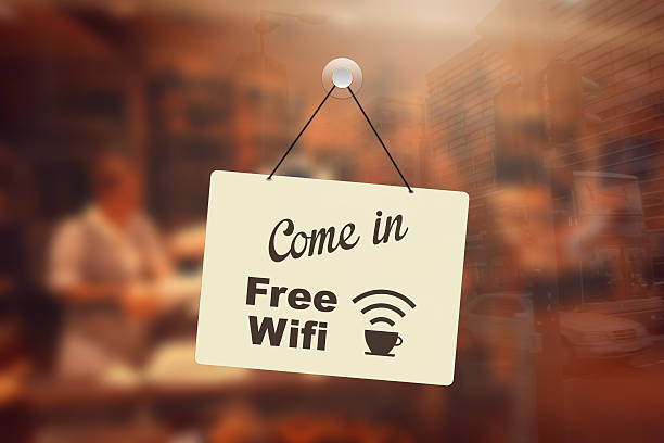 Kostenloses wifi im coffee shop anmelden – Foto