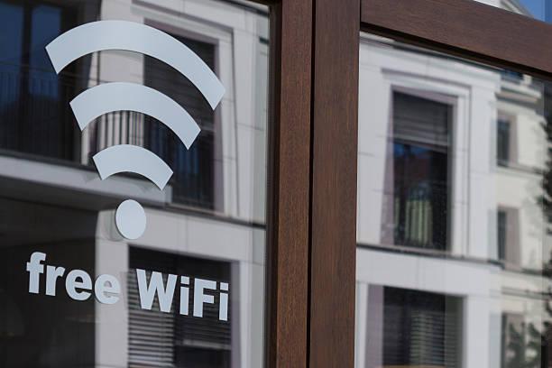 Kostenloser wifi-symbol-Kabelloses internet-symbol für shop Fenster – Foto