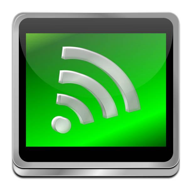 freie drahtlose wifi-taste – 3d illustration - kostenlose webseite stock-fotos und bilder