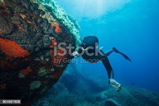 istock Freediving Apnea snorkeling Underwater diving sea adventure