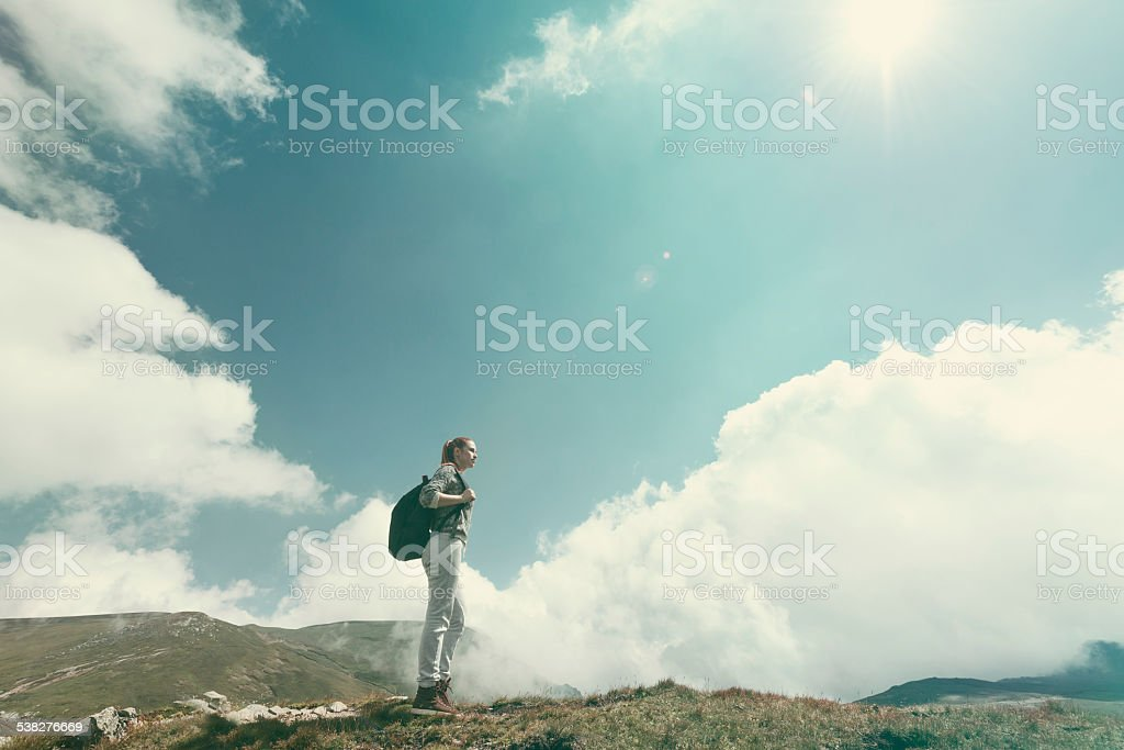 freedom and adventure royalty-free stock photo