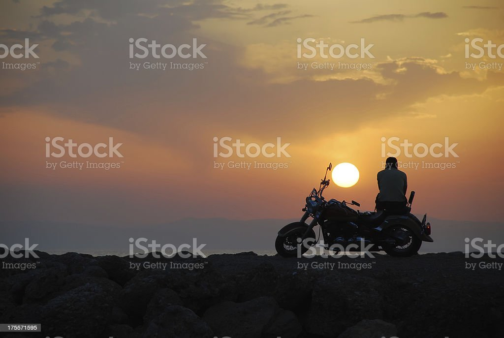 Freedom and loneliness 3 stock photo