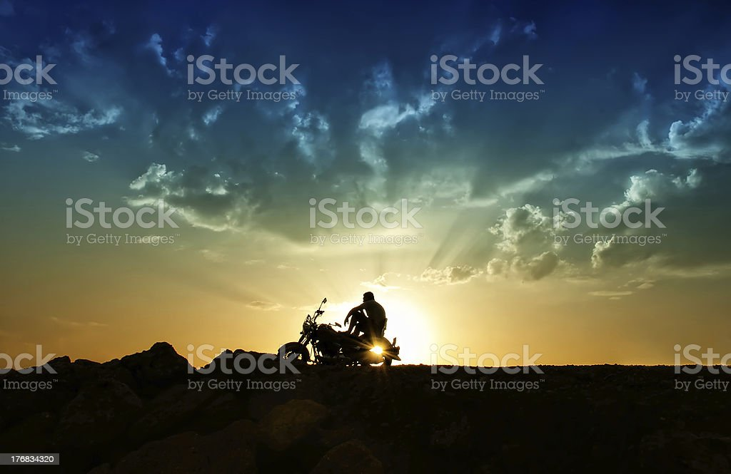 Freedom and loneliness stock photo
