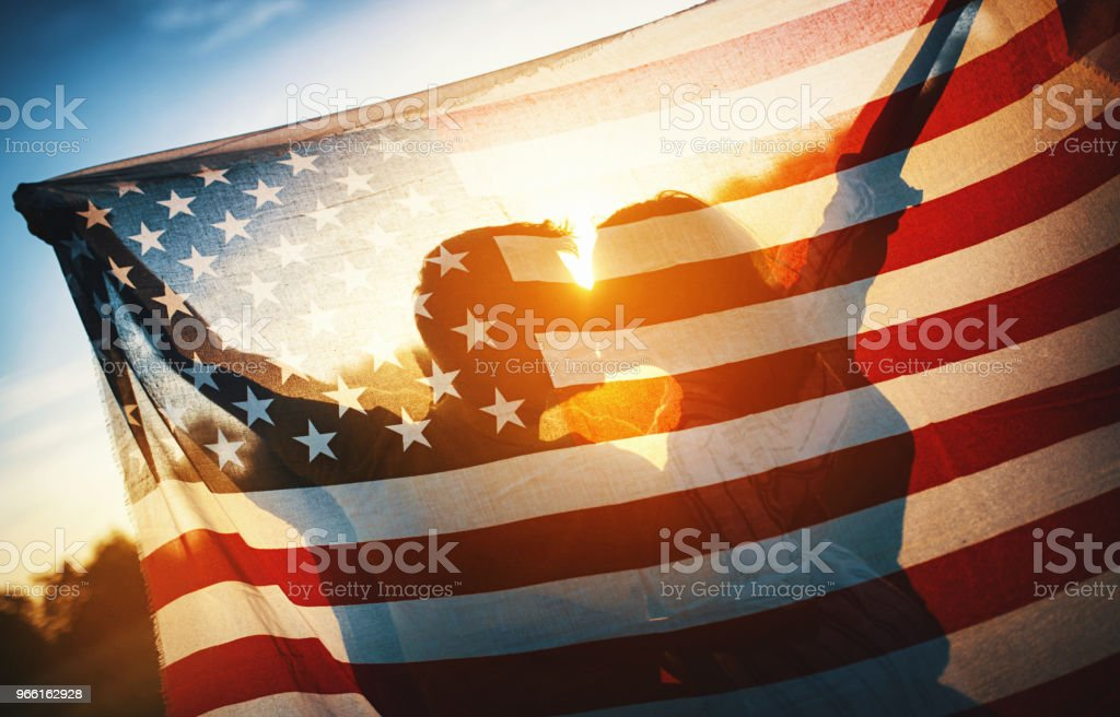 Freedom and Love in the USA - Royalty-free 20-29 Anos Foto de stock