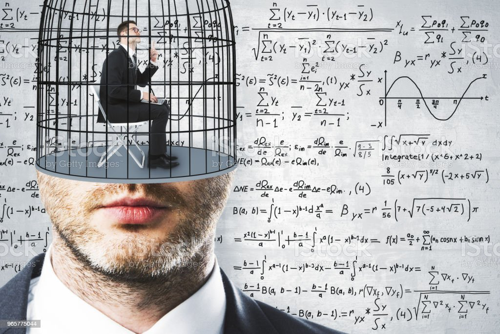 Freedom and science background - Royalty-free Adult Stock Photo