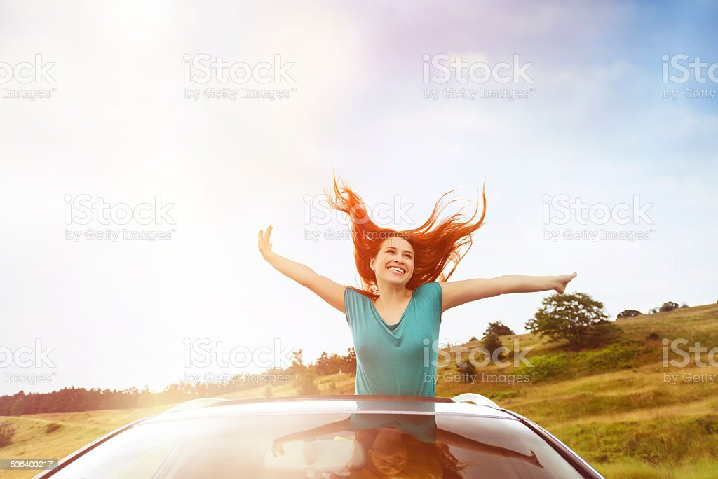 freedom and vacation stock photo