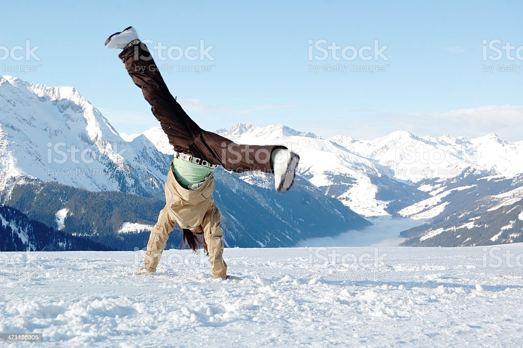 freedom at ski resort royalty-free stock photo