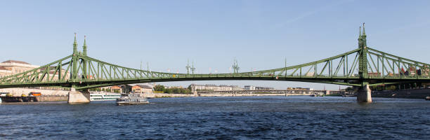 freedom bridge over the danub in budapest hungary freedom bridge over the danub in budapest hungary liberty bridge budapest stock pictures, royalty-free photos & images