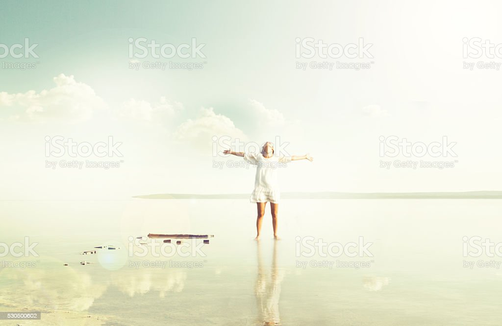 Freedom calls stock photo