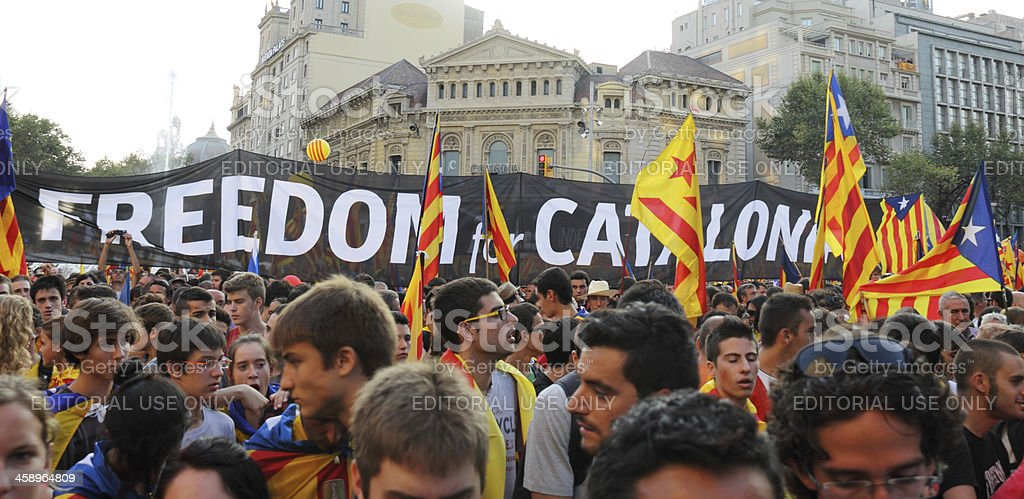 Freedom for Catalonia royalty-free stock photo