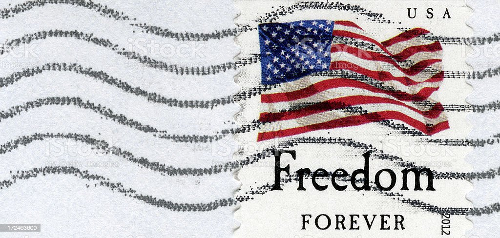 Freedom Forever Postage Stamp royalty-free stock photo