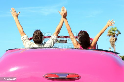 istock Freedom - happy free couple in car 177030299